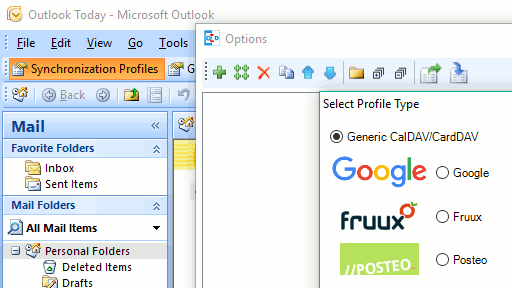 Outlook new profile screenshot